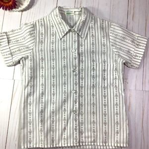 Vtg Girl Scouts Brownie Blouse 6